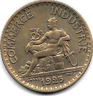 *france  1 Franc  1925 Km 876   Xf - Francia