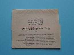 Serie Van 6 Vloeipapier WERELDSPAARDAG > Algemene SPAAR- En LIJFRENTEKAS ( Série Compleet Met Band ) Zie Foto's ! - Buvards, Protège-cahiers Illustrés