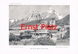 765-2 Ernst Platz Uschba Kaukasus Kunstblatt 1904!! - Estampes