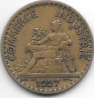 France  1 Franc  1927 Km 876   Vf+ - H. 1 Franco