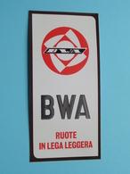 BWA Ruote In Lega Leggera ( Zie Foto Voor Détail ) Zelfklever Sticker Autocollant ! - Publicités