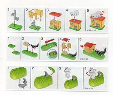 Componibili KINDER - 1999 - Cartine Nr. 24 - 25 - 26 - (FDC15513) - Istruzioni
