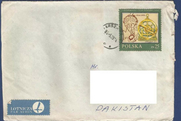 POLAND 1985  POSTAL USED AIRMAIL COVER TO PAKISTAN  CRACOVIA A BUCHOWIECKI PLAN KRAKOWA 1703 - Airmail
