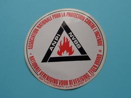 ANPI - NVBB ( L'Incendie / Brand ) ( Ottignies - Zie Foto Voor Détail ) Zelfklever Sticker Autocollant ! - Publicités