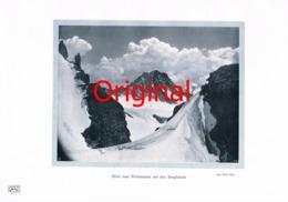 770-3 Rupp: Wettersattel Berglistock Berge Fotodruck 1905!! - Unclassified