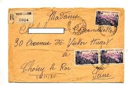 Lettre Recommandee Vrigne Sur Martinique - Marcophilie (Lettres)