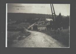 Goffontaine - Goffontaine école Sinistrée En 1940 - Repro Sur Photo 12,6 X 8,5 Cm - Pepinster