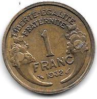 France  1 Franc  1932 Km 885   Vf+ - Francia