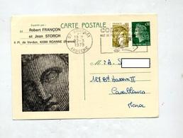 Carte Postale 0.30cheffer Flamme Annonay Code Postal Illustré - Entiers Postaux