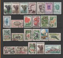 Ivory Coast  24 Used Stamps1959-65 - Ivory Coast (1960-...)