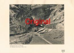 835 Meisser: Gebirgsschlucht Engadin Alpe Almen Kunstblatt 1908!!! - Unclassified