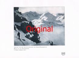 836 Sehrig: Skifahrer Pichler Hütte Stubaier Kunstblatt 1907 !! - Unclassified