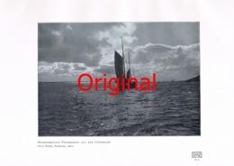 838 Reich: Fischerboot Segelschiff Elbe Nordsee Kunstblatt 1906!! - Unclassified