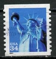 Etats Unis - Vereinigte Staaten - USA 2001 Y&T N°3157 - Michel N°3399 (o) - 34c Statue De La Liberté - Oblitérés