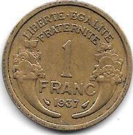France  1 Franc  1937 Km 885   Xf - Francia