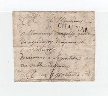 Sur Partie De Lettre Pour La Grostière Marque Linéaire Chaunai, Chaunay, Vienne. Taxe Manuscrite. (2287x) - Postmark Collection (Covers)