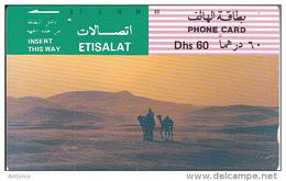 U.A.E. (tamura) - Camels In The Desert(Dhs 60), Used - Verenigde Arabische Emiraten