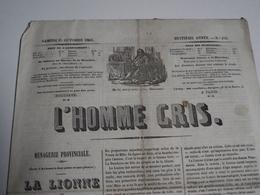 L' HOMME GRIS, 1845, Journal  De BORDEAUX Et La Région - Journaux - Quotidiens