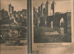 Couverture De Cahier HELIOS ,le Moulin De BARBASTE (Lot Et Garonne) ,le Chateau De Bonaguil (verso), Frais Fr 1.45e - Blotters