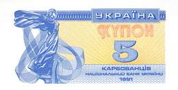 5 Karbowanez Ukraine 1991 - Ucrania