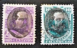 SURCHARGES 1894 - OBLITERES - YT 85 + 88 - Pérou