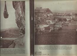 Couverture De Cahier HELIOS , Gréce , Athènes ,l'Acropole ;  Curieux Ascenseur Aux Météores(verso), Frais Fr 1.45e - Blotters