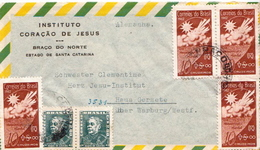 Postal History Cover: Brazil Stamps On Cover - Climate & Meteorology
