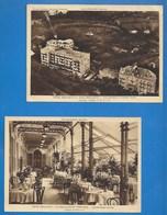 73 - AIX-LES-BAINS - HÔTEL BEAU-SITE - LOT DE 2 CARTES -  VUE AERIENNE -  GALERIE COUVERTE - - Aix Les Bains