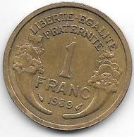 France  1 Franc  1939 Km 885   Xf+ - Francia