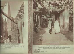 Couverture De Cahier HELIOS , Au Maroc ,souks à Marrakech; Algérie ,une Rue De Ghardaïa(verso), Frais Fr 1.45e - Blotters
