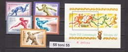 1980 Olympic Games- Moscow Mi 4932-4936+Bl.144 (athletics)  5v.+S/S- MNH  USSR - Ete 1980: Moscou