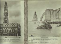 Couverture De Cahier HELIOS , Falaises D'Etretat ; Hotel De Ville D'Arras Avant La Guerre(verso), Frais Fr 1.45e - Blotters
