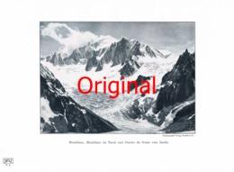 850 Wehrli. Montblanc Du Tacul Gletscher Druck 1905!! - Unclassified