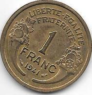 France  1 Franc  1941 Km 885   Xf - H. 1 Franco