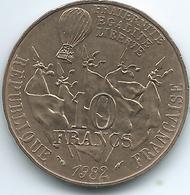 France - 1982 - 10 Francs - Centennial Of Death Of Leon Gambetta - KM950 - Francia
