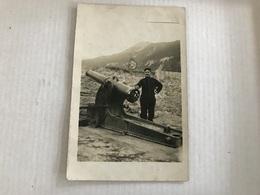 Un Soldat Avec Son Canon En 1911 à Megevette - Materiale