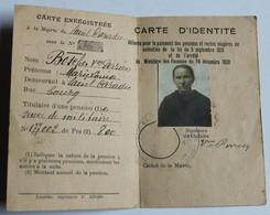 Ancienne Carte D'identité Boscher Veuve De Militaire Perrien Marie Louise Saint Caradec - Old Paper