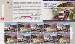 Malaysia - 1997 - Light Rail Transit System - Mint Stamp Booklet - Malaysia (1964-...)