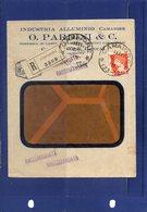 ##(DAN196)-Italia 1932- Busta Intestata Industria Alluminio O.Pardini & C. Camaiore-Lucca, Annullo Frazionario 33-12 - 1900-44 Vittorio Emanuele III
