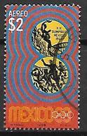 MEXIQUE   -   Aéro   -   1968  .  JO De Mexico  /  Basket  /  Volley ,   Oblitéré  . - Mexico