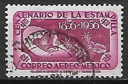 MEXIQUE   -   Aéro   -   1956  .   Centenario De La Estampilla ,   Oblitéré  . - Mexique