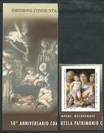 """Italia, Italy, Italien 2019; Madonna In Sacra Famiglia Del Mantegna + Bordo Con Madonna In """"La Natività"""" Del Caravaggio - Madonne"""