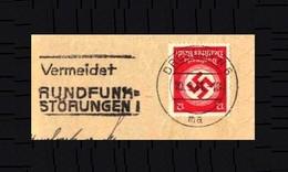 Deutsches Reich / Germany: 'Stempel 'Rundfunkstörungen, 1941' / Cancel 'Radio Noise', Dresden N6 - Music
