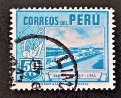 QUARTIER DES OUVRIERS A LIMA 1938 - OBLITERE - YT 361 - MI 392 - Peru