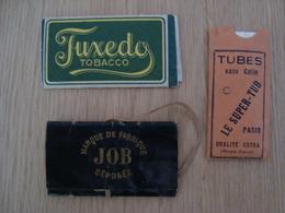 LOT DE 3 PAQUETS ANCIENS DE FILTRES A CIGARETTES  FUXEDO . LE SUPER TUB . JOB - Cigarettes - Accessoires