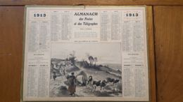 CALENDRIER ALMANACH DES POSTES 1913 DEPARTEMENT DE LA LOZERE - Grand Format : 1901-20