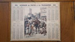 CALENDRIER ALMANACH DES POSTES 1914 DEPARTEMENT DE LA LOZERE - Calendars