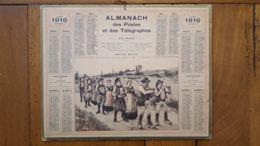 CALENDRIER ALMANACH DES POSTES 1916 DEPARTEMENT DE LA LOZERE - Grand Format : 1901-20