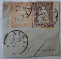 Fragment D'enveloppe,  Lot 1660 - 1854-1862 Helvetia (Imperforates)