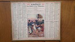 CALENDRIER ALMANACH DES POSTES 1933 DEPARTEMENT DE LA LOZERE - Big : 1921-40